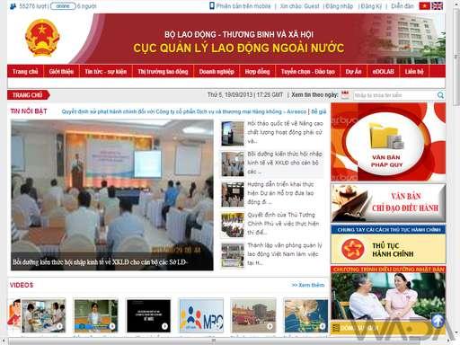 WEBSITE CUC QUAN LY LAO DONG NGOAI NUOC