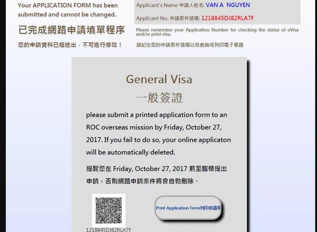 cach khai form visa dai loan7