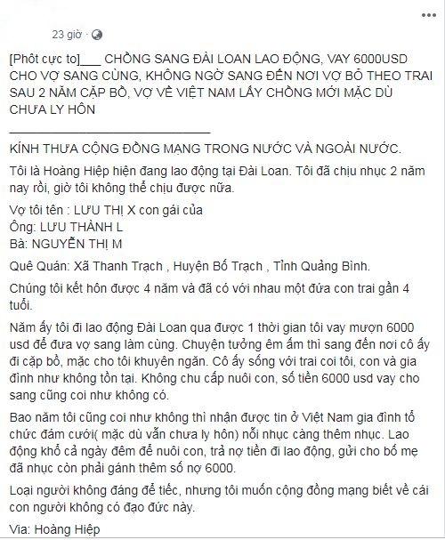 chong to vo di xkld dai loan roi ngoai tinh