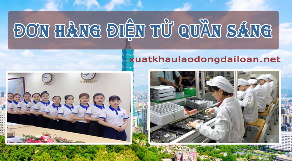 don hang dien tu dai loan nha may quan sang